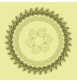 Mandala with hop floral ornament vector image