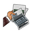 business finance report vector image