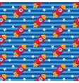 Cartoon rocket pattern vector image