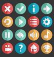 Flat and round game icon vector image