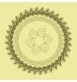 Mandala with hop floral ornament vector image
