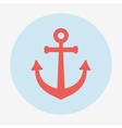Pirate or sea icon anchor Flat design style modern vector image