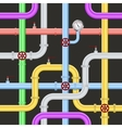 Seamless Abstract Industrial Pipeline Pattern vector image