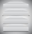Set of 3d Box Shadows vector image