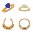 set of jewelry pieces vector image