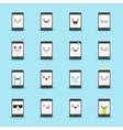 smartphone emoji set Funny emoticons vector image