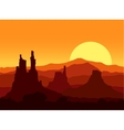 Sunset in the Rocky Mountains vector image