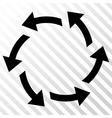 Centrifugal Arrows Icon vector image