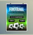 soccer football poster flyer template vector image
