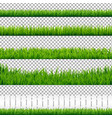 realistic green grass borders vector image