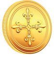 French gold coin ecu vector image vector image