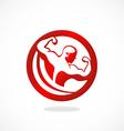 fitness body building man logo vector image