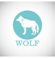 Wolf design Animal conceptWildlife animal vector image