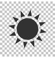 Sun sign  Dark gray icon on vector image