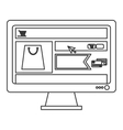 computer monitor with shopping website on screen vector image