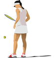 Woman tennis player vector image