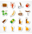 Alcohol beer party stickers set vector image