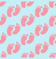baby footprint pattern vector image