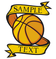 basketball club emblem vector image