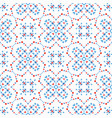 boho pattern blue flower background vector image