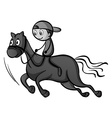 Boy riding a horse vector image