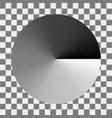 circular monochrome gradation gray color gradient vector image