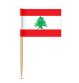 flag of lebanon flag toothpick vector image