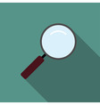 Loupe magnifier icon flat vector image
