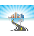 road city vector image