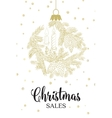 The christmas sales card vector image