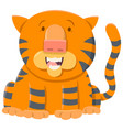 Tiger cartoon animal character vector image