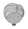 monochrome silhouette face groom with bowtie vector image