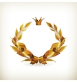 wreath gold old-style vector image vector image