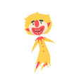 happy laughing clown jumping colorful cartoon vector image