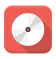 CD disc flat app icon with long shadow vector image