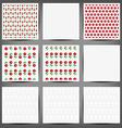 set of flower paper card vector image