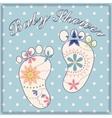 Background baby shower boy vintage vector image