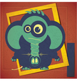 Cartoon elephant with Pirsing vector image vector image