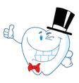 Happy Winking Gentleman Tooth vector image vector image