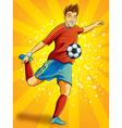 Soccer Player Shooting a Ball vector image vector image