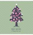 Assorted Christmas Tree vector image
