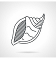 Black line icon for sea shell vector image