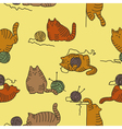 Cats seamless texture vector image