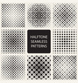 collection of square halftone seamless geometric vector image