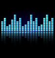 digital equalizer sound waves abstract vector image