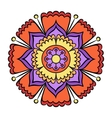 doodle colorful flower vector image