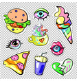 fashion pop art patch badges sweet colors isolated vector image