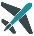Jet Airplane Flat Icon vector image