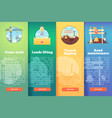 set of building and construction flat vector image