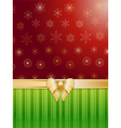 Christmas background and bow vector image vector image